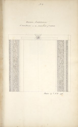 Gateway at Kondavid Durg. 'Hindoo Architecture. A door frame in the lower fort of Condavir. Sketched by C.M.K. 1796
